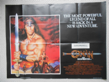 Conan the Destroyer, Original UK Quad Film Poster, Arnold Schwarzenegger, '84